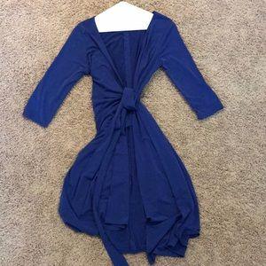 Mods blue wrap dress